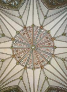 Chapter House Stained Glass Roof York Minster Yorkshire Mint Photo Postcard