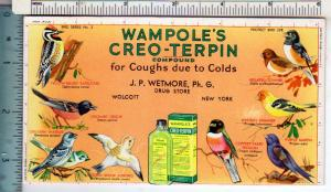 Wampole's Creo-Terpin, J.P.Wetmore Drug Store, Wolcott NY