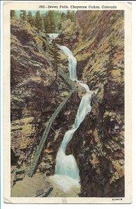 Colorado Springs, CO - Seven Falls, Cheyenne Canyon - 1950