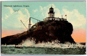 Tillamook Lighthouse, Oregon Advertising 1912 Rose Festival Vintage Postcard S01