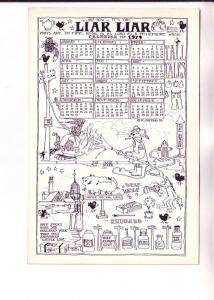 Calendar 1979, Liar Liar Pants on Fire, Mouse Fireman  and other Cartoons, Fl...
