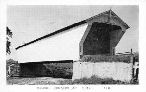 F26/ Preble County Harshman Ohio Postcard c1950s Covered Bridge 11