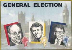 Paddy Ashdown Neil Kinnock John Major Election Limited Edition of 2000 Postcard