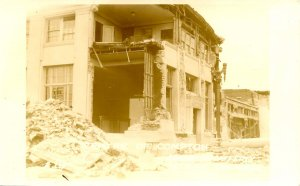 CA - Compton Earthquake, Mar. 10, 1933.  Center of City  *RPPC