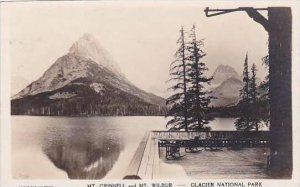 Montana Glacier National Park Mt Grinnell &  Mt Wilbur Real Photo RPPC