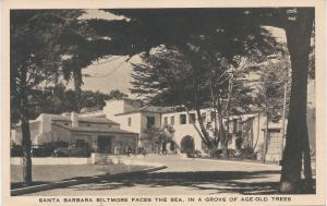 Santa Barbara Biltmore Faces the Sea, Santa Barbara, CA, Early Postcard, Unused