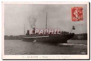 Old Postcard Boat Ship Le Havre Provence