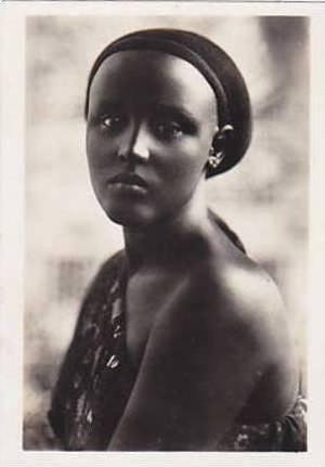 Snapshot, Native Girl Wearing A One Shoulder Costume, Libya, Africa, 1930-1940s