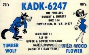 QSL Radio Station,  Postcard Postcards