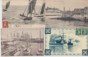 PAQUEBOTS SHIPPING SHIPS BOATS 800 Cartes Postales 1900-1960
