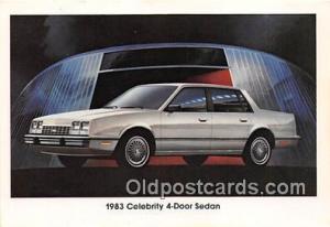 Chevrolet Postcard Post Card 1983 Celebrity 4 Door Sedan