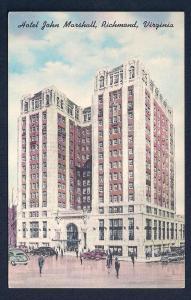Hotel John Marshall Richmond Virginia unused c1930's