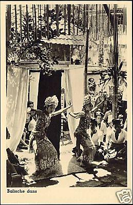 indonesia, BALI, Native Legong Dancer Girls 1950s RPPC