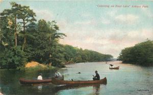 C-1910 Canoeing on Deal Lake Asbury Park New Jersey Borden postcard 10804