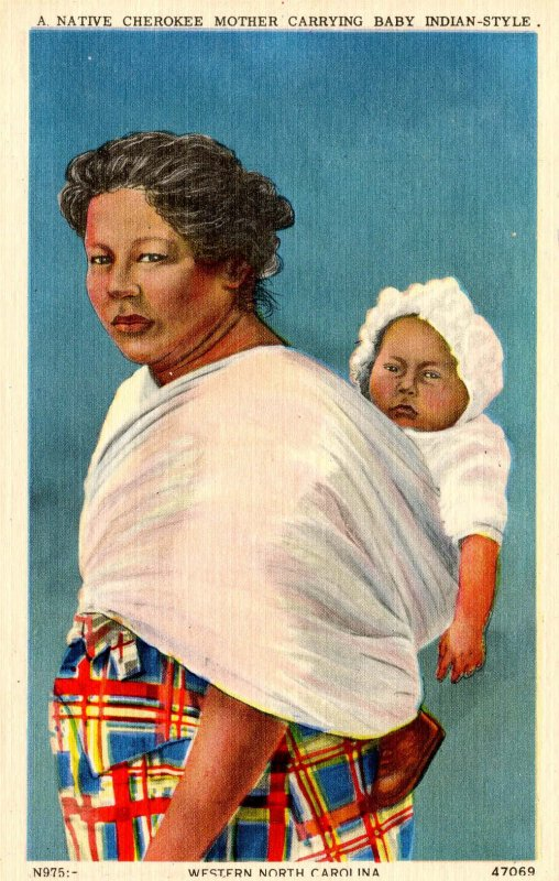 Native Cherokee Mother and Baby