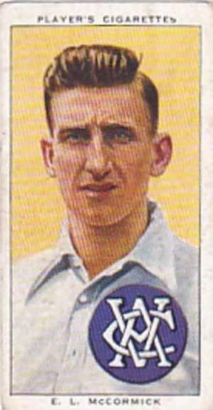 Player Vintage Cigarette Card Cricketers 1938 No 45 E L McCormick Victoria & ...