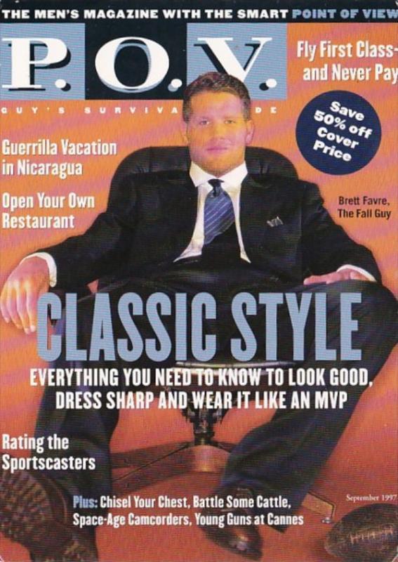 Advertising P O V Men's Magazine 1997