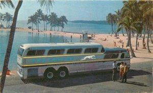 Greyhound Bus Advertising 1960s Scenicruiser Postcard 10782