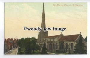 tq0468 - Somerset - St. Mary's Church and Grounds, in Bridgewater - Postcard