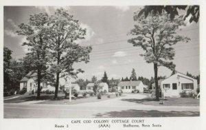 RP; SHELBURNE , Nova Scotia, Canada, 1940s; Cape Cod Colony Cottage Court