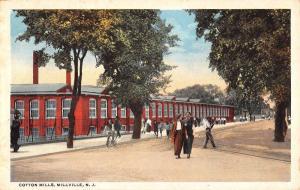 Millville New Jersey Cotton Mills Street View Antique Postcard K27971