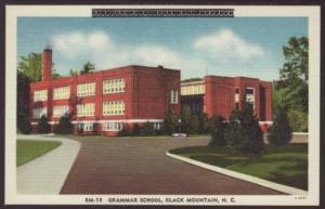 Grammar School,Black Mountain,NC Postcard