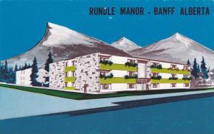 Aerial Rundle Manor, Banff, Alberta, Canada, 1940-1960s