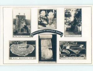 old rppc SIX VIEWS ON ONE POSTCARD Hatfield - Hertfordshire - England UK HM1661