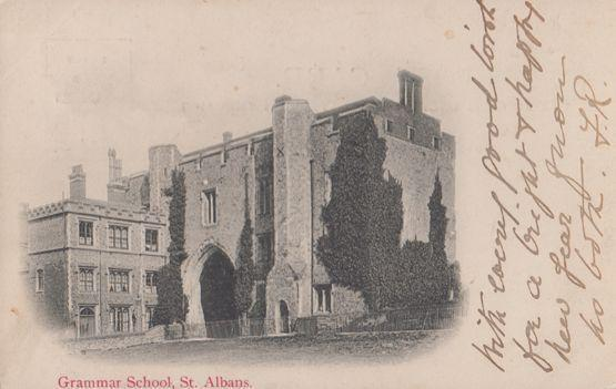 Grammar School St Albans Hertfordshire First Published 1902 Antique Postcard