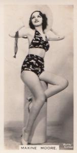 Maxine Moore Hollywood Actress Rare Real Photo Cigarette Card