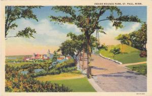 Indian Mounds Park - St Paul, Minnesota - 1936 Linen