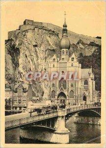 Modern Postcard Dinant Citadel Bridge and Church