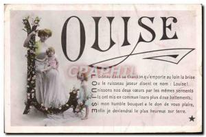 Old Postcard Fancy Louise Surname