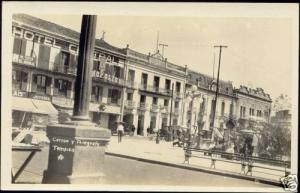 mexico TAMPICO, Post Office, Hotel Central (1930s) RPPC