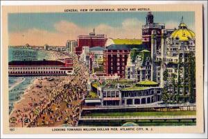 Broadwalk, Beach & Hotels, Atlantic City NJ