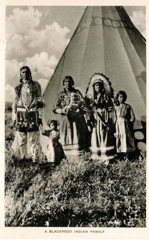 A Blackfoot Indian Family, Montana / HipPostcard