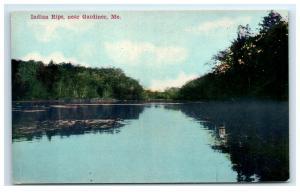 Postcard Indian Rips near Gardiner, Maine ME H25