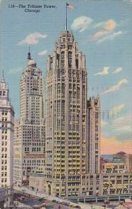 Illinois Chicago The Tribune Tower 1952