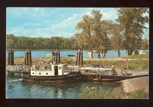 Rocky Hill, Connecticut/CT Postcard, So Glastonbury Ferry, Connecticut River