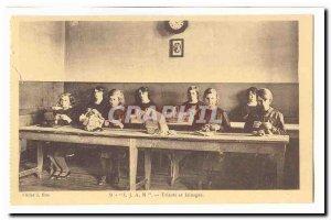 Institution for Blind Youth Nancy IJAN 8 street Santifontaine Old Postcard kn...