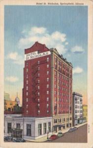 Illinois Springfield Hotel St Nicholas 1954 Curteich
