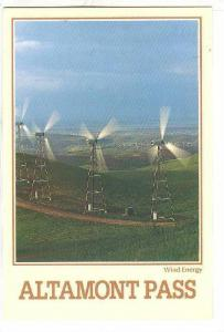 Windmill power generators, Altamont Pass , California , 1990s