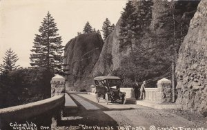Oregon Columbia Highway Old Car At Shepherds Dell Real Photo sk128