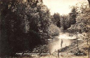 LPM56 Baldwin  Michigan Pere Marquette River  RPPC Postcard