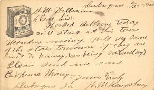 Indianapolis~WM Williams Nine O'Clock Washing-Tea~Salesman Needs Expense $$~1900