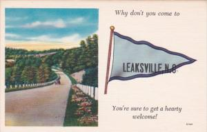 North Carolina Leaksville Why Don't You Come Pennant Series
