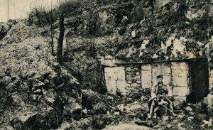 1914-15 WWI German Steinbruche bei Soissons, Feldpost Military Postcard P20