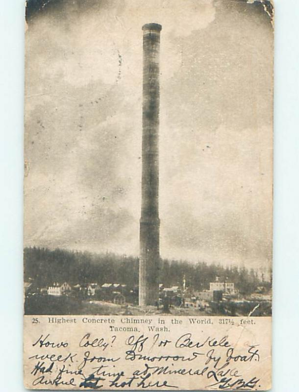 Pre-1907 POSTCARD SCENE Tacoma Washington WA hp9405