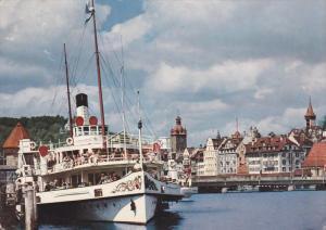 LUZERN , Landungssteg , SWITZERLAND , PU-1957