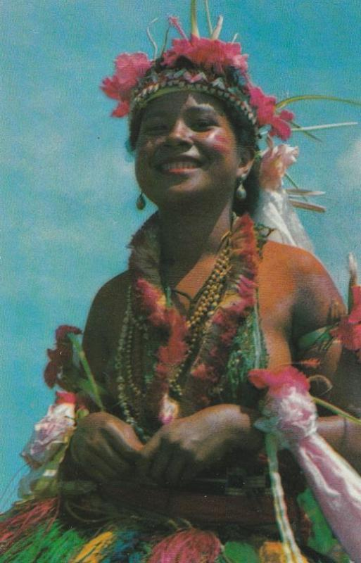 Pretty Yapese Dancer Traditional Dance Yap Western Caroline Islands Micronesia